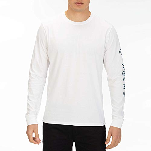 Hurley M PRM Surf&Enjoy LS Tee-Shirts Homme, White, FR : S (Taille Fabricant : S)