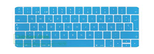 TouchBar EU Spain Spanish Keyboard Cover for New MacBook Pro 13 15 Retina with Touch Bar 2020 2019 2018 2017 2016 A2159 skin-lake blue-