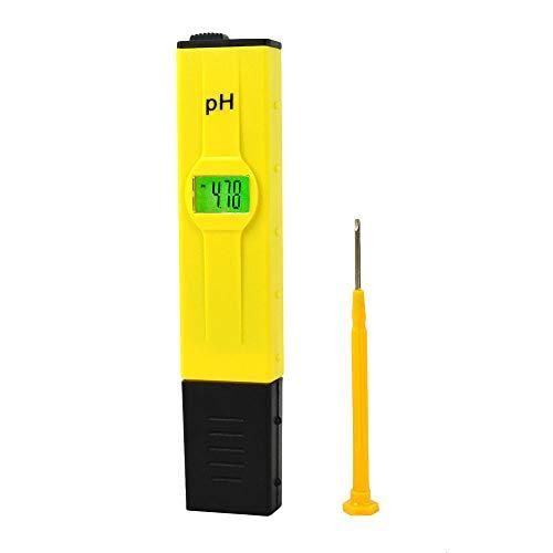 Szaerfa Testeur de pH-mètre numérique Portable LCD pH-mètre Type de Stylo testeur de Piscine électronique 0.0-14.0pH Plage de Mesure intérieur extérieur Taille de Poche