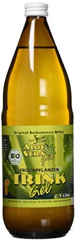 Aloe Vera Gold Bio Trinkgel Natur mit wenig Fruchtfleisch, 1000 ml