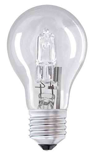 K+E 52W = 75W ES E27 Edison Schraubsockel ECO Halogen A55 GLS Energiesparlampe dimmbar 6 Stück