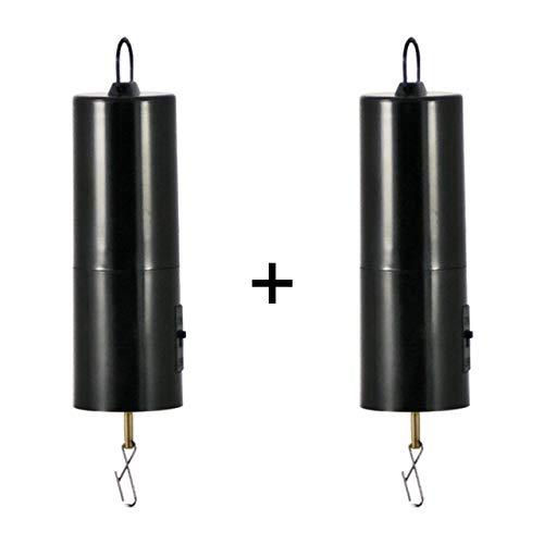CIM Mobiler Batterie Motor für Windspiele, Discokugeln, Mobiles - [ 2 Stück ] leise, gleichmäßig drehend - Abmessungen: 45 x 190mm (2)