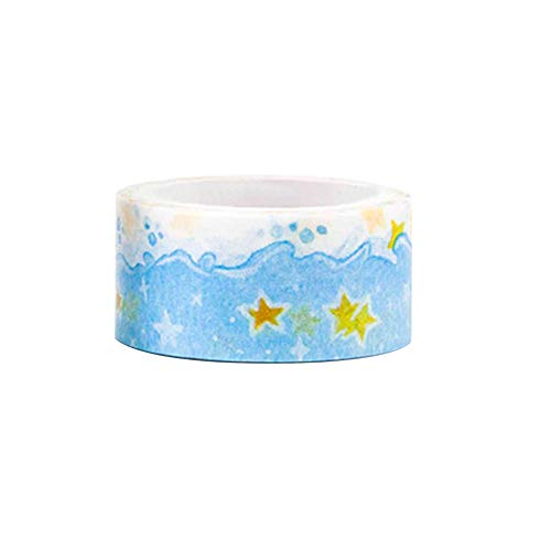 Lsgepavilion Creative Star Ocean Masking Tape Washi Paper DIY Album Diario Adesivo Decorativo, 1#, Taglia Unica