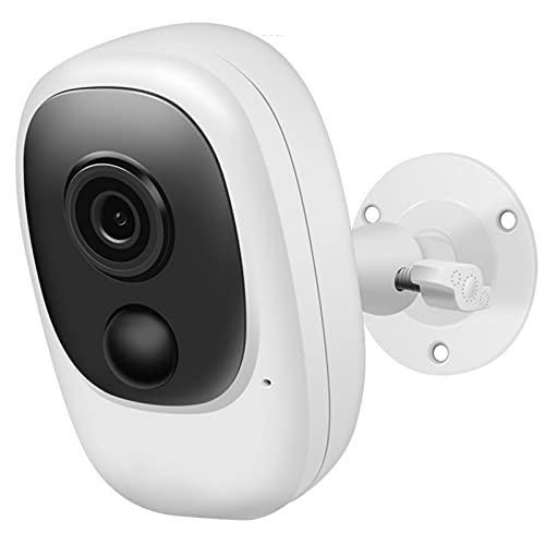 Cámara de Seguridad inalámbrica para Exteriores, cámara WiFi para Interiores con batería, IP65 a Prueba de Agua, cámara IP con Audio bidireccional, visión Nocturna, detección de Movimiento