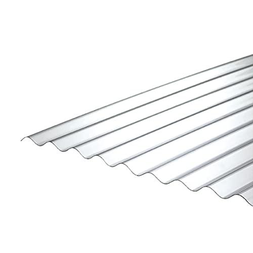10 placas PC corrugadas Onda 76/18 1,1 mm Clear 1265 x 2000 mm UV