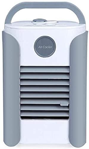 XJYDS Fan del condizionatore d'aria personale, 3 in 1 Spazio personale Raffreddamento Desktop Portatile Mini Evaporativo Air Cooler Air Misting Fan Aria condizionata 3 Velocità 7 Colore LED, per camer