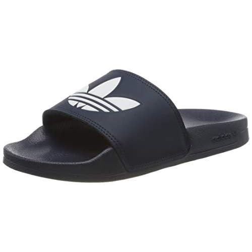 adidas Adilette Lite, Scarpe da Ginnastica Uomo, Bleu Marine/Blanc/Bleu Marine, 38 EU