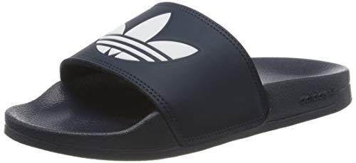adidas Herren Adilette Lite Sneaker, Bleu Marine/Blanc/Bleu Marine, 47 EU