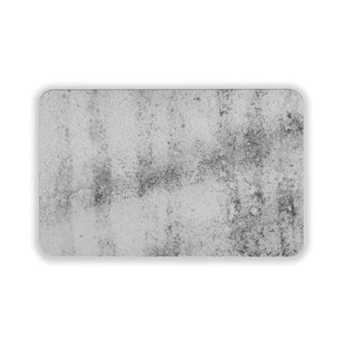 Tapete para Piso, tapetes de Bienvenida de Caucho Natural Duradero ,Dusty Dirty Glass Composition as a Background Texture,Alfombra para Interiores y Exteriores 15 by 24 Inches