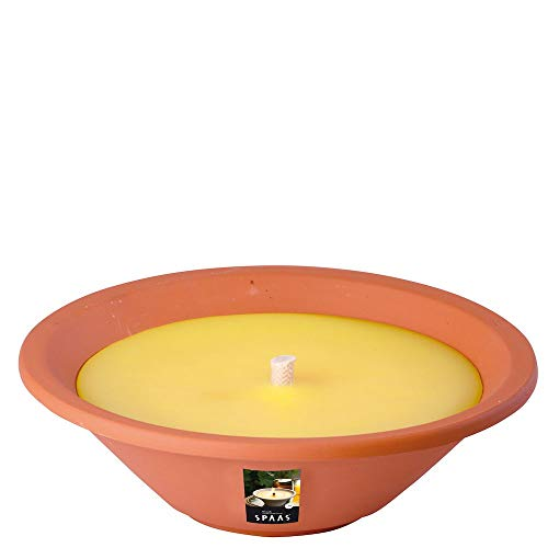 Spaas Citronella Garden Candle - Vela en Tarro de Terracota (230 x 65 mm), Color Amarillo