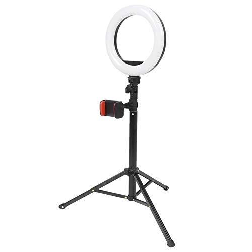 Byged Anillo de luz de 8 '', Anillo de luz LED con Soporte de trípode Extensible y Soportes para teléfono, 3 Modos de atenuación, para cámara, Video, Maquillaje, fotografía de Selfies