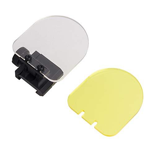FOCUHUNTER Schermo Protettivo Tattico - Mirino Pieghevole Airsoft Protector Mirini Red DOT Sight Tactical Scope Lens per tiro a Caccia (Black)