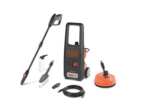 Black+Decker BXPW1500PE Idropulitrice ad Alta Pressione, 1500 W - Patio Cleaner e Spazzola Fissa, Nero/Arancio, Plus