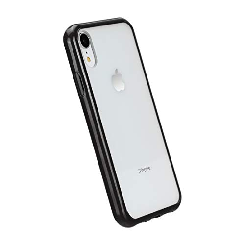 AmazonBasics - Funda protectora para iPhone XR, TPU + PC (negro), antiarañazos