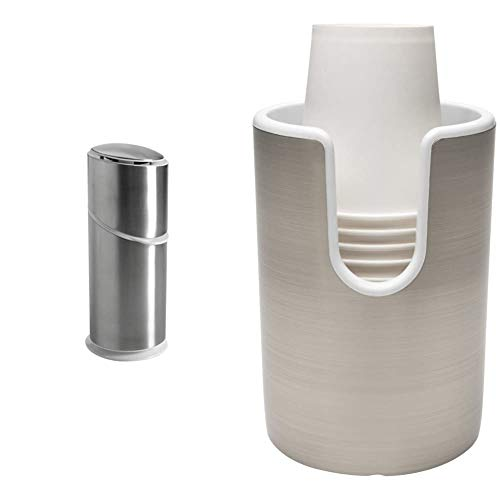 OXO Good Grips Stainless Steel Toothbrush Organizer & Good Grips Paper Rinse Cup Holder