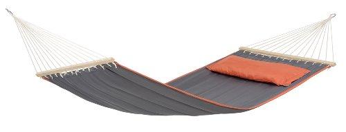AMAZONAS Stabhängematte XL American Dream Grey inkl. Kopfpolster 200x120 cm bis 180 kg