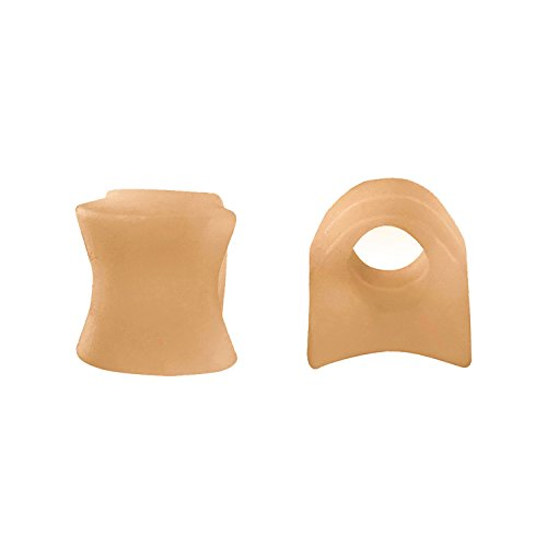 Silky Toes Toe Separators and Spreaders for Bunion 2Pk (Beige (2 Pack)