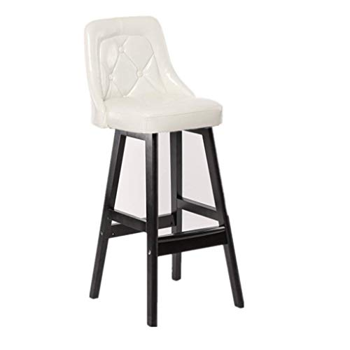 Barhocker, Tresenhocker Barstuhl, Verrückter hocker Vintage Sessel, Massivholz Barhocker Haushalt PU Barhocker Schwarz Hohe Hocker Rezeption Stuhl Dekorative Stuhl 40 * 37 * 75 cm Hocker und stühle