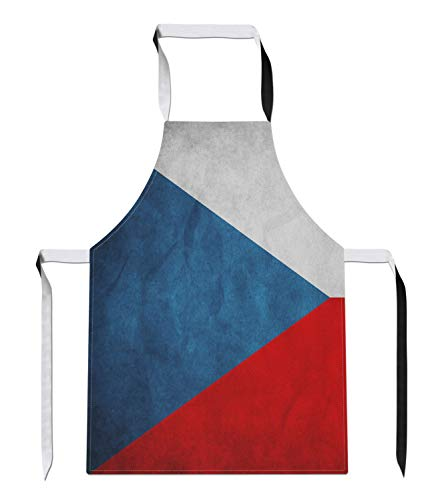 Tr73ans Vintage Tsjechië Land Vlag Nieuwigheid Voetbal APRON Gift Keuken Tabard Sport Kookgerei Gift