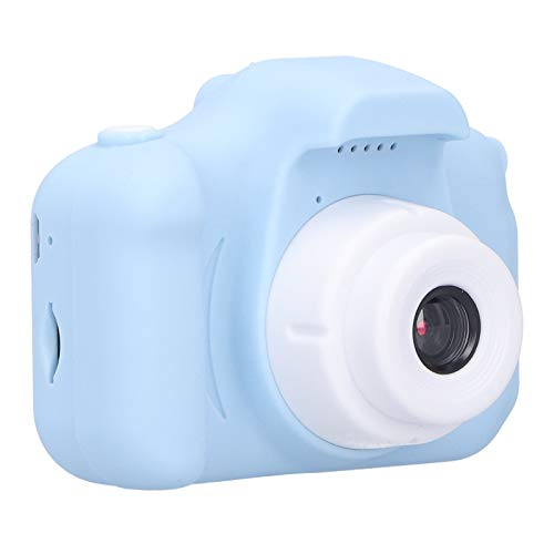 Uxsiya X5S Small Size Children Camera Toy Silicone Digital Camera The Best Thanksgiving/Christmas/Birthday Gift for Kids(Blue)