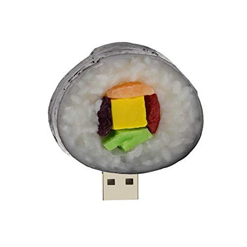 jiao Divertente Sushi USB Flash Drive 4GB 8GB 16GB Carino Pizza Fries Hamburg Forma Mini USB 2.0 Pendrive 32GB 64gb Memory Stick Pen Drive M1