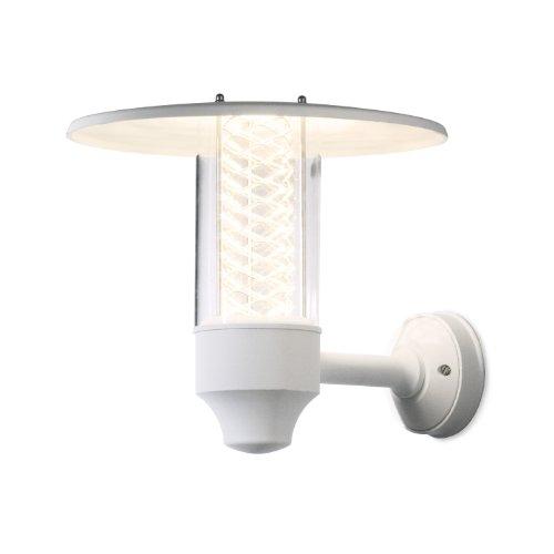 Konstsmide Nova 406-250 wandlamp/B: 34cm D: 37cm H: 31cm / 1x50W / IP44 / gelakt aluminium/mat wit