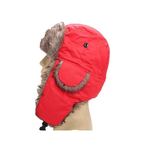 ZIXIXI Sombrero de invierno de piel sinttica para hombre y mujer, clido forro trmico, para esqu, esqu, caza o uso diario