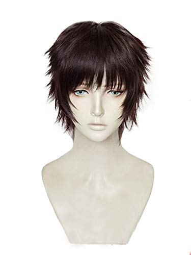 Xingwang Queen Anime Cosplay Wig Short Red Brown Men Boys' Party Wigs