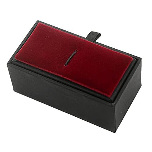 LANL Caja de exhibición de la joyería del terciopelo de la vendimia caso de regalo para los hombres lazo clip almacenamiento