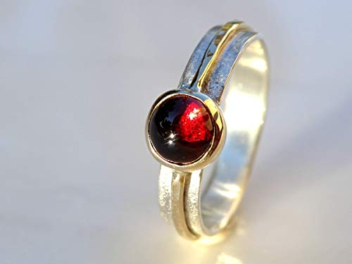 viking garnet ring, gold garnet ring, viking engagement ring, mens garnet ring gold silver, mens engagement ring, womens promise ring celtic