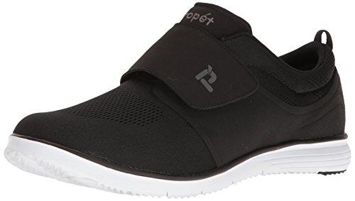 Propet Men's TravelFit Strap Walking Shoe, Black, 11 M US