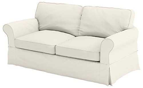 """The Cotton Sofa Cover (Width: 81""""~ 85"""", Not 92"""" !) Fits Pottery Barn PB Comfort Roll ARM Sofa (Not Grand Sofa). A Durable Slipcover Replacement (Beige (Box Edge))"""