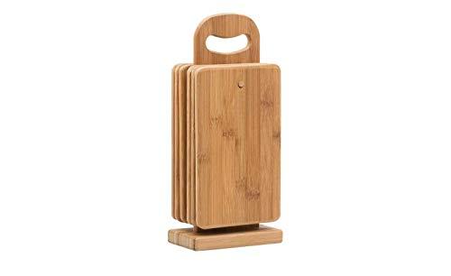 Messerbrett Holzfarben 15,0cm x 0,8cm Frühstücksbretter-Set, 7-teilig KHG Bambus