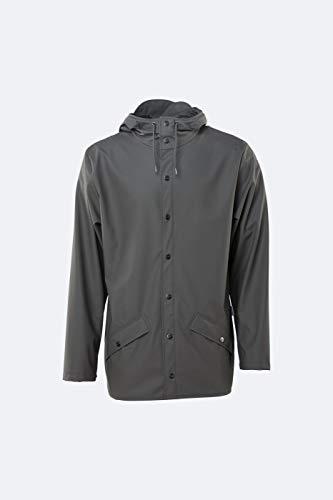 RAINS, giacca antipioggia da uomo, 1201, antracite, XS-S