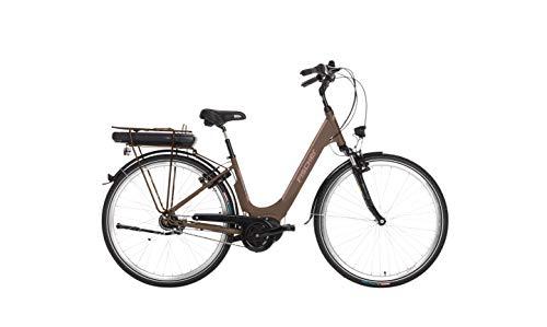 Fischer E-Bike City CITA 3.0, Elektrofahrrad, mocca matt, 28 Zoll, RH 44 cm, Mittelmotor 50 Nm, 36 V Akku im Rahmen