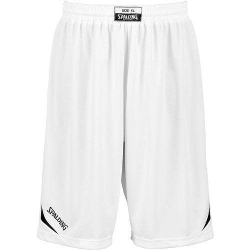 Spalding Attack Shorts De Equipaciones, Hombre, Blanco/Negro, XXXS
