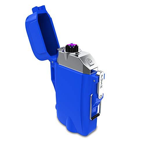 電子ライター 懐中電灯 USBライター 充電 応急照明 防水 防塵 防風 誕生日 記念日 プレゼント 地震対策 3つの照明モード ブルー