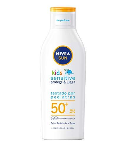 Nivea Sun Kids Sensitive Protege & Juega Leche Solar para Niños FP50+, 200ml