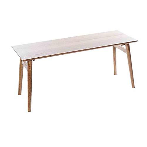 YCSD Minimalismus-Holzbank Massivholz Esstisch Bank Garten Outdoor Indoor Freizeit Sitz, 100x35x45 cm (Color : Wood Color)