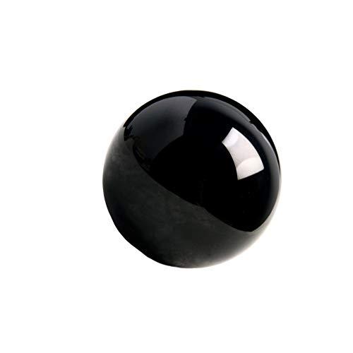 VOSAREA Bola de Cristal de obsidiana Decorativa mágica Mineral Natural adivinación Esfera Bola hogar Escritorio Ornamento decoración (9 cm)