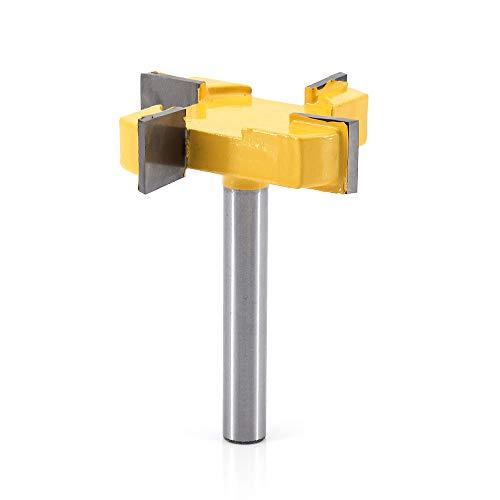 DingGreat CNC Spoilboard Surface, Punta per fresatura del legno, codolo da 8mm, diametro di taglio 2 pollici, fresa per piallatrice, strumento per la lavorazione del legno