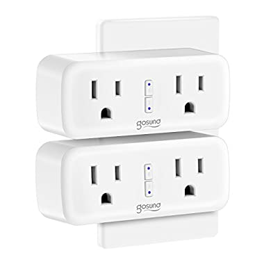 Wi-Fi Smart Plug Outlet Mini Work with Alexa, Google Home, IFTTT, No Hub Required, ETL and FCC Listed by Gosund (2 Pack)