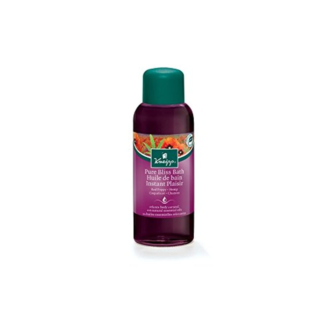 が欲しい疫病失Kneipp Pure Bliss Herbal Red Poppy and Hemp Bath Oil (100ml) (Pack of 6) - クナイプ純粋な至福ハーブの赤いケシと麻バスオイル(100ミリリットル) x6 [並行輸入品]