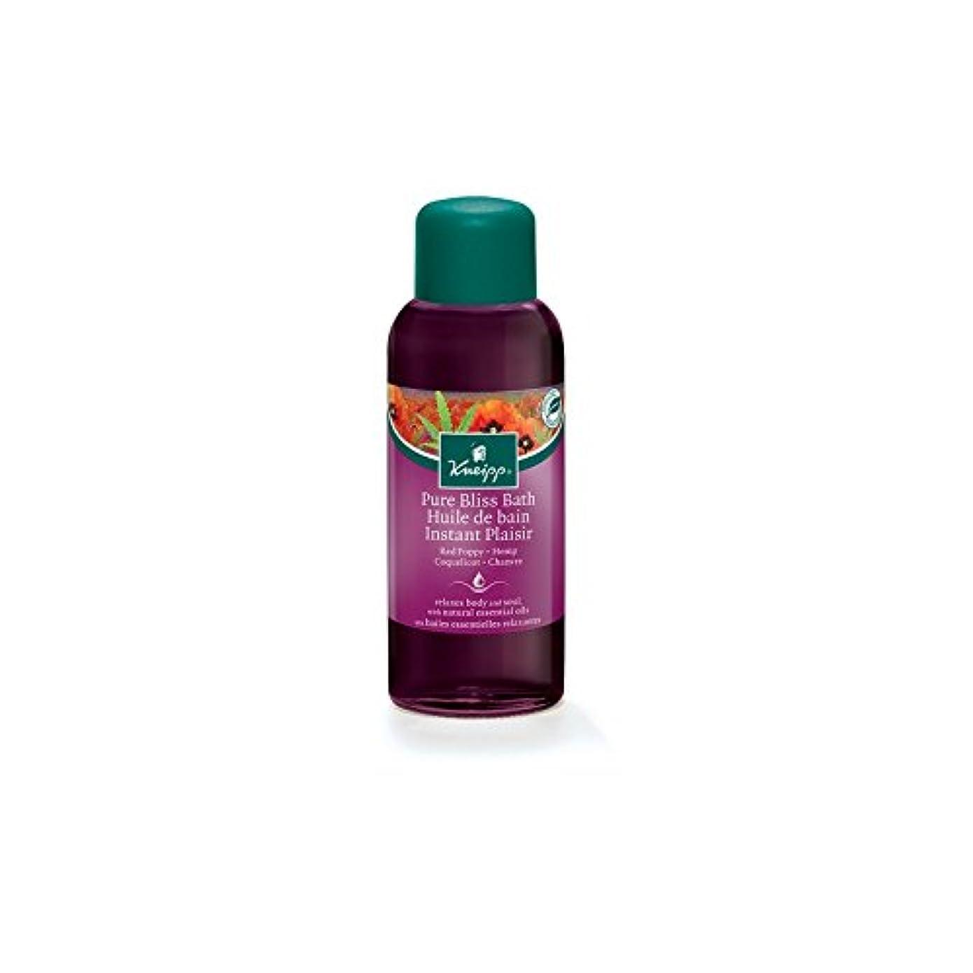 混乱した成功使用法Kneipp Pure Bliss Herbal Red Poppy and Hemp Bath Oil (100ml) (Pack of 6) - クナイプ純粋な至福ハーブの赤いケシと麻バスオイル(100ミリリットル) x6 [並行輸入品]