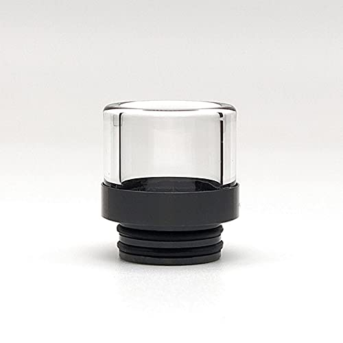 TFV16 TFV12 Prince Glass Drip Punta per sigarette 810 Ugello multiuso filtro anti schiacciamento, senza nicotina (nero)