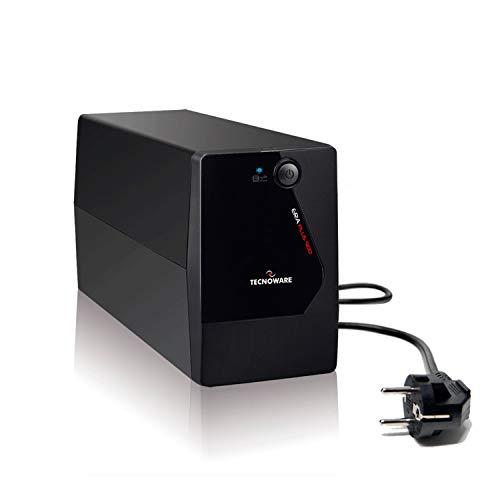 Tecnoware UPS ERA PLUS 900 Sistemas de Alimentación Ininterrumpida - 2 salidas Schuko - Autonomía hasta 13 min con 1 PC o 50 min con Modem Router - Potencia 900 VA