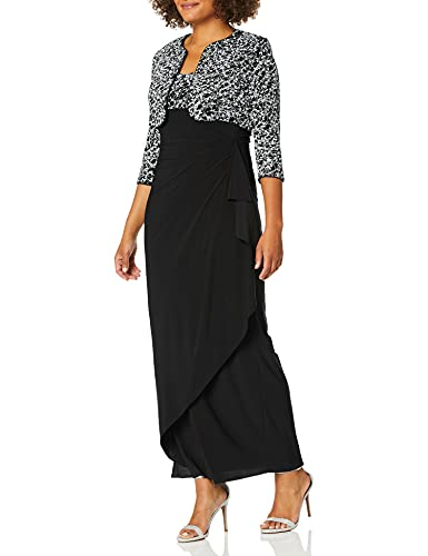 Alex Evenings Women's Empire Waist Dress with Side Ruched Skirt and...