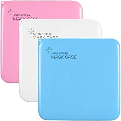 Amazon - Save 50%: 3 Pieces Plastic Storage Case for Face Covering, Dustproof Storage Box P…