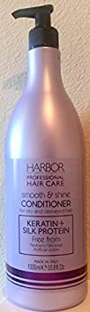 Harbor Natural Cosmetics Smooth & Shine Keratin + Silk Protein Conditioner 33.8 Oz.
