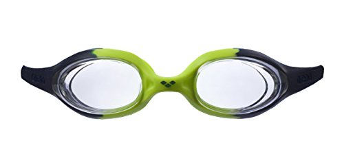 arena Kinder Unisex Training Wettkampf Schwimmbrille Spider Junior (UV-Schutz, Anti-Fog, Harte Gläser), Navy-Clear-Citronella (71), One Size